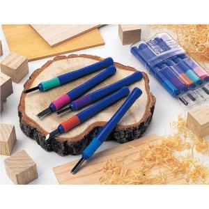 彫刻刀セット 5本組 サクラクレパス 版画 はんが彫刻刀 ラバーグリップ採用 小学校 中学校|kanaemina