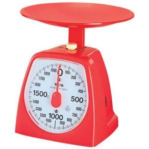キッチンスケール タニタ クッキングスケール アナログ 2kg レッド|kanaemina