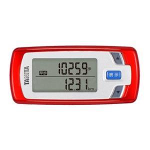 歩数計 活動量計 タニタ 消費カロリー ウォーキング用 メタリックレッド
