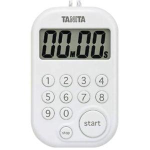 キッチンタイマー マグネット タニタ デジタル 100分計 白 kanaemina