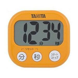 キッチンタイマー マグネット タニタ 大画面 デジタル シンプル 簡単操作 オレンジ