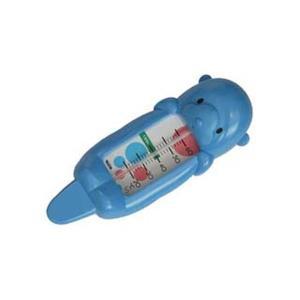 湯温計 水温計 お風呂の温度計 赤ちゃん 子ども用 アナログ タニタ 浮き用 ラッコ ブルー|kanaemina