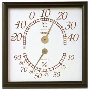温湿度計 温度計 湿度計 タニタ オフィス用 幅30cm 大きい 大型 アナログ ブラウン|kanaemina