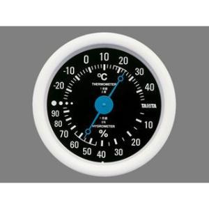 温湿度計 温度計 湿度計 アナログ 測定器 タニタ ブラック|kanaemina