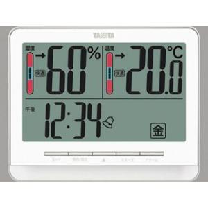 デジタル温湿度計 温度計 湿度計 測定器 タニタ ホワイト|kanaemina