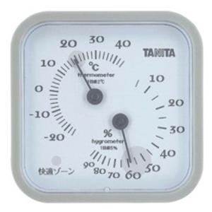 温湿度計 アナログ タニタ 温度計 湿度計 測定器 グレー|kanaemina