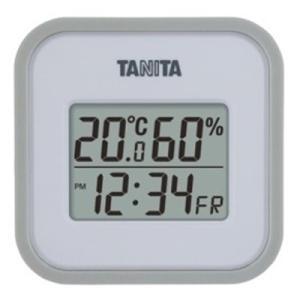 温度計 湿度計 タニタ デジタル温湿度計 グレー|kanaemina