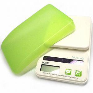 キッチンスケール デジタル タニタ ソーラー電池 クッキング用量り 調理用 グリーン|kanaemina