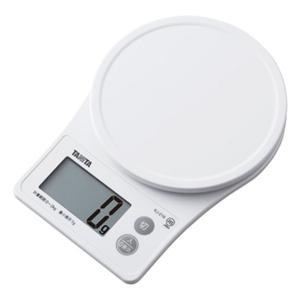クッキングスケール タニタ デジタル キッチンスケール 最大2kg 簡単 見やすい 大型表示 ホワイ...
