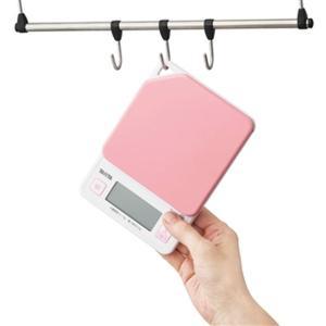クッキングスケール タニタ デジタル キッチンスケール 最大1kg フック穴付き ストロベリーピンク|kanaemina