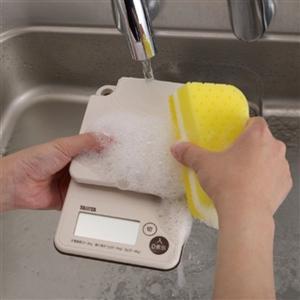 クッキングスケール タニタ 洗える デジタル キッチンスケール 最大3kg 防水等級IP65 アイボリー|kanaemina