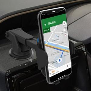車載用スマホホルダー Qi充電器 急速 ワイヤレス充電器 角度調節 伸縮 可動式 自動開閉ホルダー|kanaemina