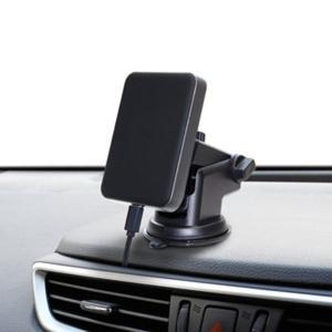 ワイヤレス充電器 車載用 iPhone スマートフォン Qi認証品 アイフォン11対応 マグネット式ホルダー|kanaemina