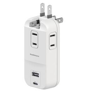 電源タップ USB付き マルチタップ 電源アダプタ AC充電器 AC3口 Type-C Type-A タイプC タイプA|kanaemina