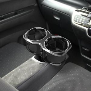 ドリンクホルダー 車載用 1口増設 ダブルタイプ ツインカップ ドリンクホルダー