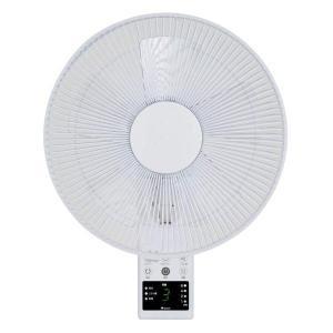 壁掛け扇風機 リモコン付き 5枚羽根 ホワイト 入切タイマー 首振り リズム風 省エネ 節電 サーキュレーター|kanaemina