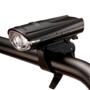 自転車用ライト 高輝度LED ヘッドライト バイクライト ジェントス 砲弾型 防滴 ブラック|kanaemina
