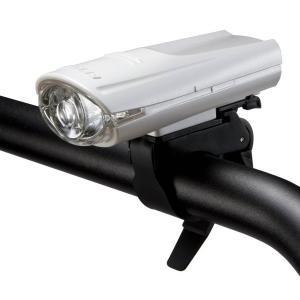 自転車用ライト 高輝度LED ヘッドライト バイクライト ジェントス 砲弾型 防滴 ホワイト|kanaemina