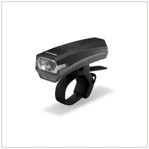 自転車用ヘッドライト LED バイクライト ジェントス 70lm ライトセンサー付き ブラック|kanaemina