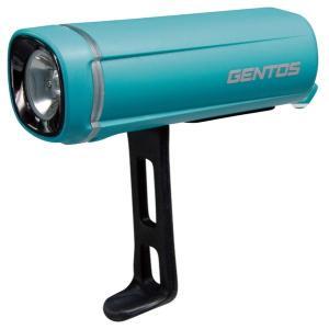 自転車ライト バイクライト 一体型ラバーバンド 防水 高輝度白色LED ターコイズブルー|kanaemina