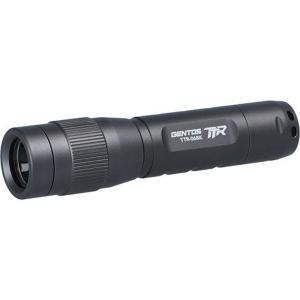 ハンディライト 懐中電灯 ジェントス 高性能レンズ 小型LEDトーチランプ 乾電池式 防塵防滴 90ルーメン ブラック|kanaemina