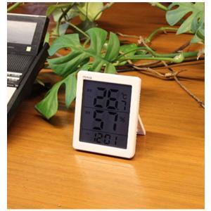 温度計 湿度計 温湿度計 デジタル 置き掛け両用時計 エアサーチ機能 シンプル|kanaemina