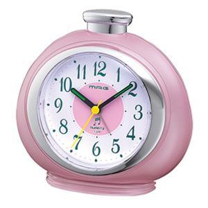 目覚まし時計 めざまし時計 アナログ メロディアラームクロック ライト付き ピンク|kanaemina