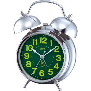 目覚し時計 めざまし時計 大音量 ベル音アラームクロック スヌーズ ツインベル|kanaemina