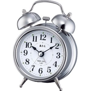 目覚し時計 めざまし時計 大音量 ベル音アラームクロック スヌーズ ベルズミニ|kanaemina