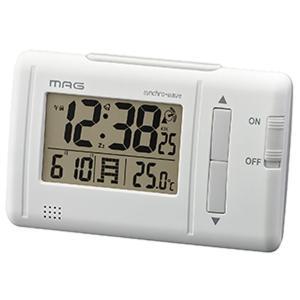 置き時計 電波時計 デジタル目覚し時計 簡単 温度計 カレンダー表示 小型|kanaemina