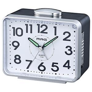 目覚まし時計 アラームクロック アナログ ベル音 ベル太郎 連続秒針 簡単操作 ライト付き|kanaemina