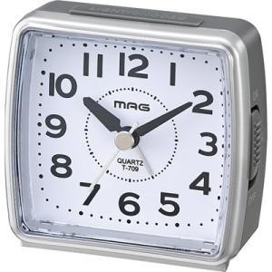 目覚まし時計 アナログ シンプル 簡単 小型 ライト付き スヌーズ アラームクロック|kanaemina