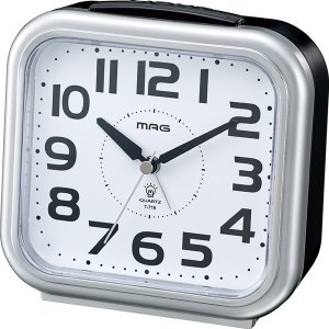 目覚まし時計 アナログ シンプル アラームクロック 見やすい 簡単操作|kanaemina