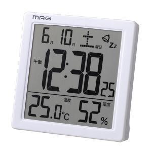 目覚まし時計 置き時計 デジタル 卓上 温度計 湿度計 カレンダー表示付き|kanaemina