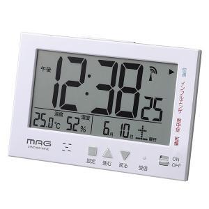 置き時計 電波時計 デジタル 卓上 目覚ましクロック 温度計 湿度計 カレンダー表示付き|kanaemina