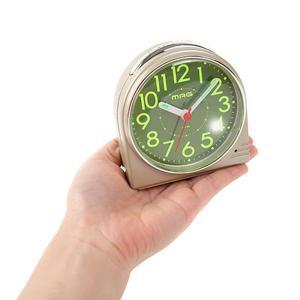 目覚まし時計 アナログ アラームクロック 小型 スタンダード 使いやすい シンプル スヌーズ ライト付き|kanaemina