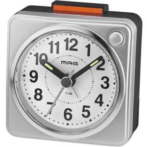 小型目覚まし時計 アナログ 小さいミニサイズ 持ち運び コンパクト 携帯 旅行 出張用 連続秒針|kanaemina