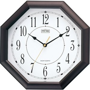 ■商品説明 運気の上りそうな八角時計 音の静かな連続秒針 アナログ文字盤 連続秒針(スイープムーブメ...