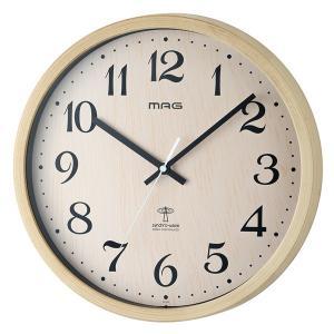 壁掛け時計 電波時計 アナログ かけ時計 木目調 ウォールクロック 北欧 おしゃれ|kanaemina