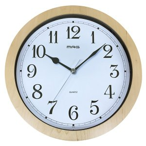 壁掛け時計 かけ時計 木目調 ウッドフレーム ウォールクロック 北欧 おしゃれ|kanaemina