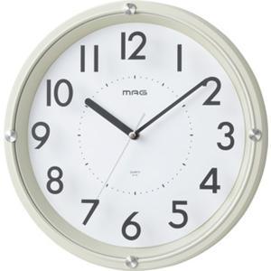 壁掛け時計 かけ時計 連続秒針 ガラス印刷文字盤 シンプル 幅30.2cm グラスアワー|kanaemina
