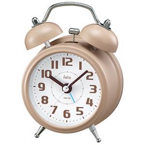 目覚まし時計 大音量 置き時計 アナログ ツインベル アイボリー かわいい おしゃれ レトロ感|kanaemina