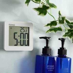 バスクロック 防滴タイマー デジタル 防水時計 お風呂の時計 温湿度計付き おしゃれ 防塵 防滴|kanaemina