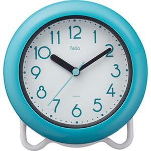 お風呂の時計 置き掛け バスクロック 防滴 防水IPX2 お風呂用時計 バブルコート ブルー|kanaemina