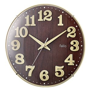 壁掛け時計 アナログ ブリュレ アイボリー 北欧 おしゃれ かわいい インテリア|kanaemina