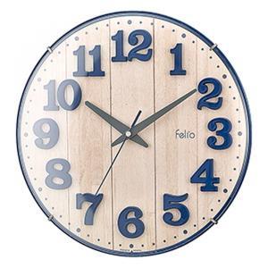 壁掛け時計 アナログ ブリュレ ネイビーブルー 北欧 おしゃれ かわいい インテリア|kanaemina