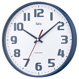 壁掛け時計 アナログ ウォールクロック チュロス ネイビーブルー 北欧 おしゃれ かわいい|kanaemina