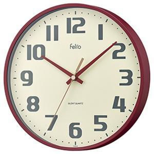 壁掛け時計 アナログ ウォールクロック チュロス レッド 北欧 おしゃれ かわいい|kanaemina