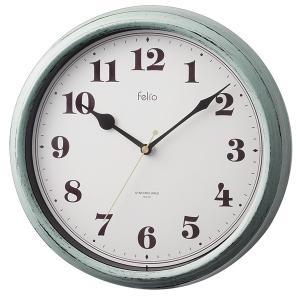 壁掛け時計 アナログ 電波時計 レトロ おしゃれ フレンチシャビー グレー|kanaemina