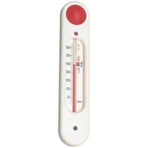 湯温計 お風呂の温度計 お湯の温度 日本製 元気っ子 吸盤付浮型 ホワイト|kanaemina